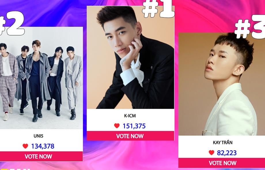 K-ICM, Uni5, Kay Trần cùng nhiều nghệ sĩ ráo riết kêu gọi fans bình chọn tại 'MTV Fan Choice'