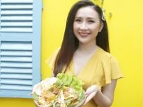 MC Hoài Hương và món gỏi gà rong biển