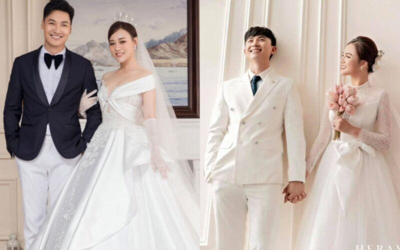 Ảnh cưới của 2 cặp đôi Huy - Thy và Long - Nam trong 'Hương vị tình thân': Ai mới là đỉnh nhất!