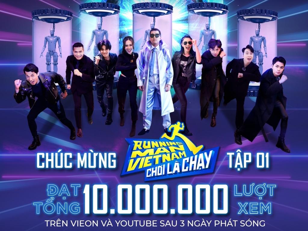 Tập 1 'Running Man Vietnam - Chơi là chạy' đạt Top#1 Trending Youtube sau 18 giờ lên sóng