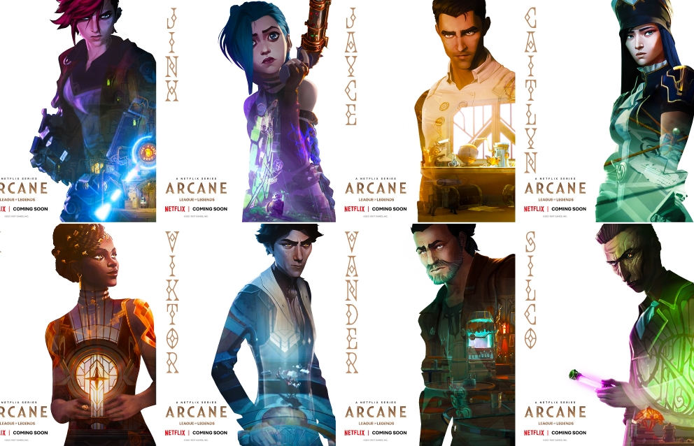 Riot games và Netflix bật mí poster các nhân vật trong 'Arcane'