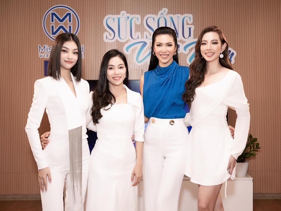 Minh Tú - Kiều Loan - Thùy Tiên 'đọ sắc' livestream 'Miss World Vietnam 2021'