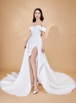 Hoa hậu Huỳnh Vy - 'Nàng thơ' của NTK Đức Vincie trong BST váy cưới 'Vườn địa đàng'